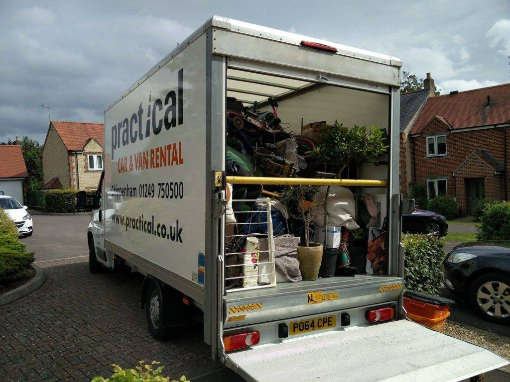 Davids van removal van fully loaded with a customers belongings