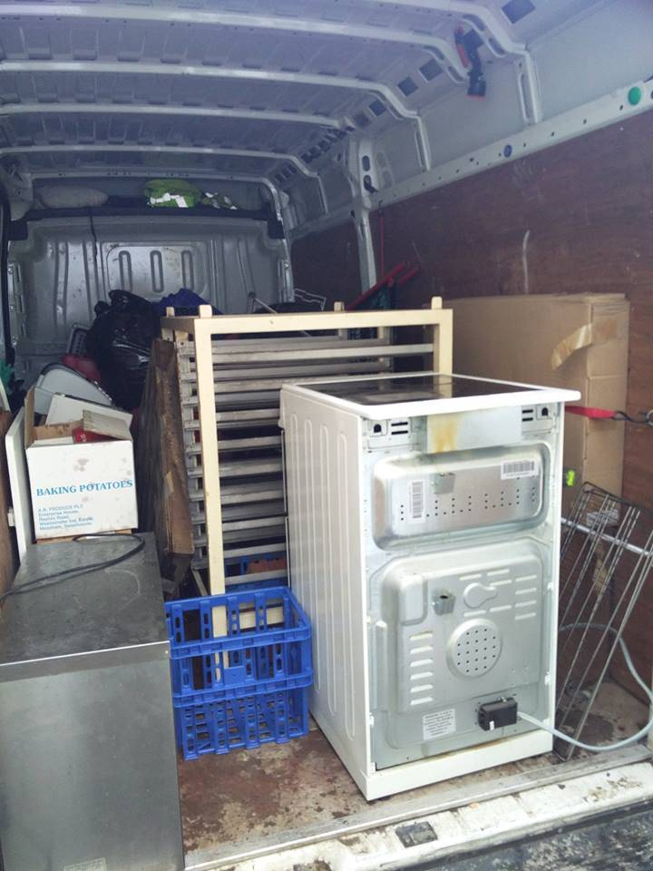 Another image of a customers belongings packed up into a van.
