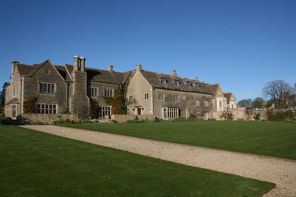 Outside view of Whatley Manor, Malmesbury